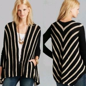 Free People Striped Sweater Cardigan size Small